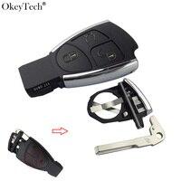 Okeytech Nieuwe Flip Gewijzigd Afstandsbediening Sleutel Shell 3 Knoppen Fob Case Cover Voor Mercedes Benz B C E ML S CLK CL Batterij Cover En Blade