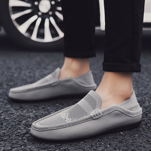 Summer flying weaving peas shoes social guy small leather mens breathable