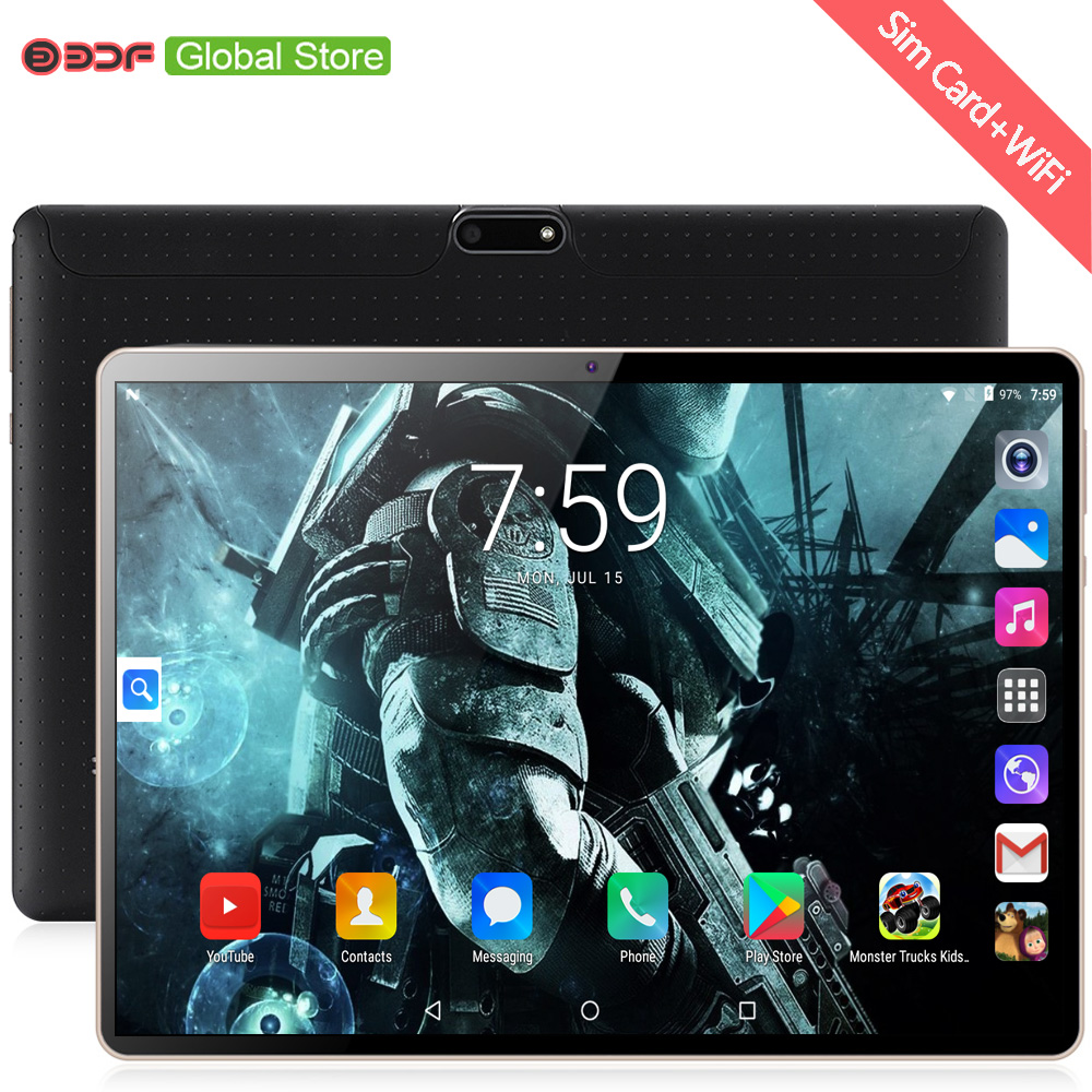 2019 New 10 Inch 3G Tablet PC Android 7.0 Octa Core 4GB RAM 64GB ROM 1280*800 IPS WiFi Bluetooth 3G Dual SIM 10.1 Tablets