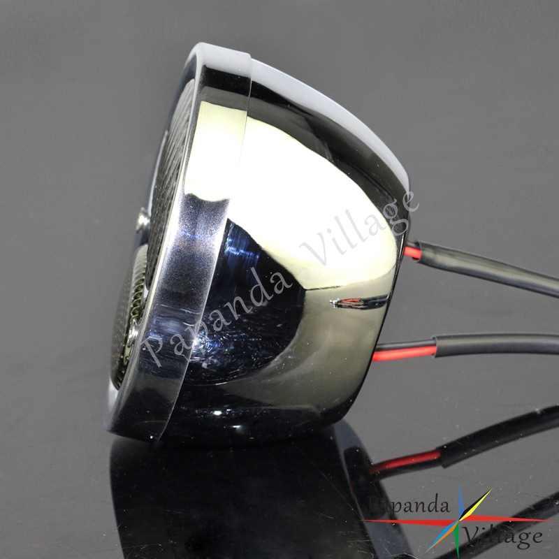Chrom Cafe Racer Replica LED Rücklicht Vintage Bremse Stop Licht Für Harley Chopper Scrambler Hinten Lampe