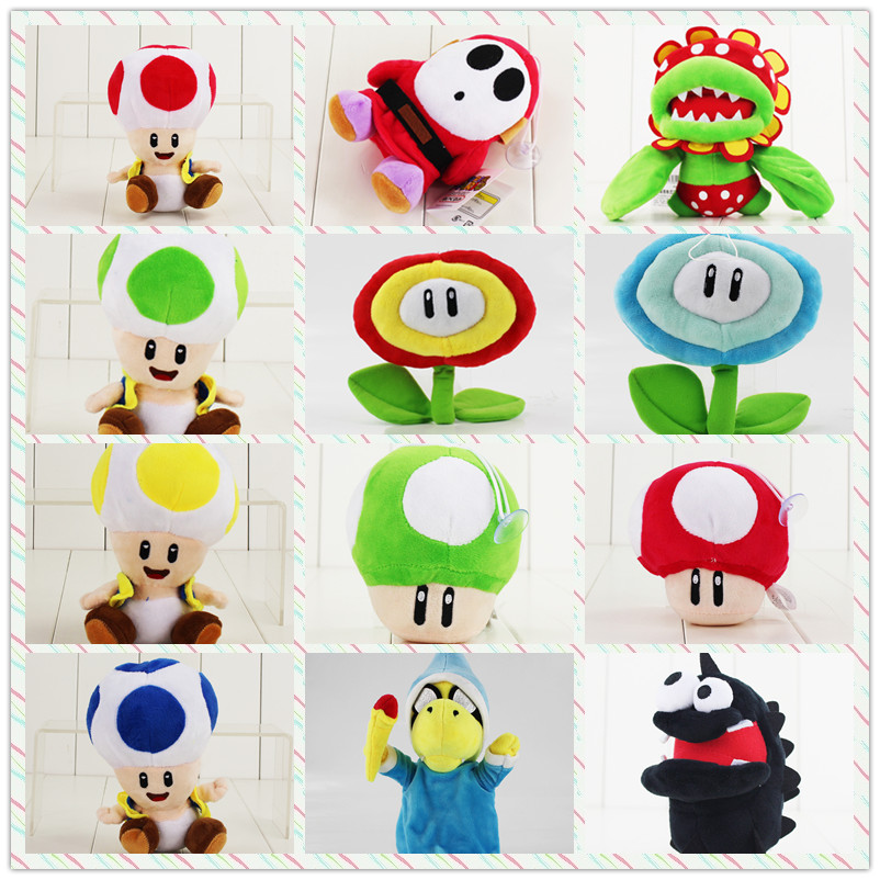 9-36cm Super Mario Bros Plush Cartoon Doll Toys Luigi Magic Koopa Turtles Chorodon Shy Guy Petey Piranha Corpse Ice Sun Flower9-36cm Super Mario Bros Plush Cartoon Doll Toys Luigi Magic Koopa Turtles Chorodon Shy Guy Petey Piranha Corpse Ice Sun Flower