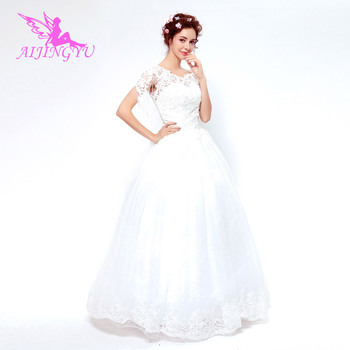AIJINGYU 2018 new free shipping china bridal gowns cheap simple wedding dress sexy women girl wedding dresses gown TS142