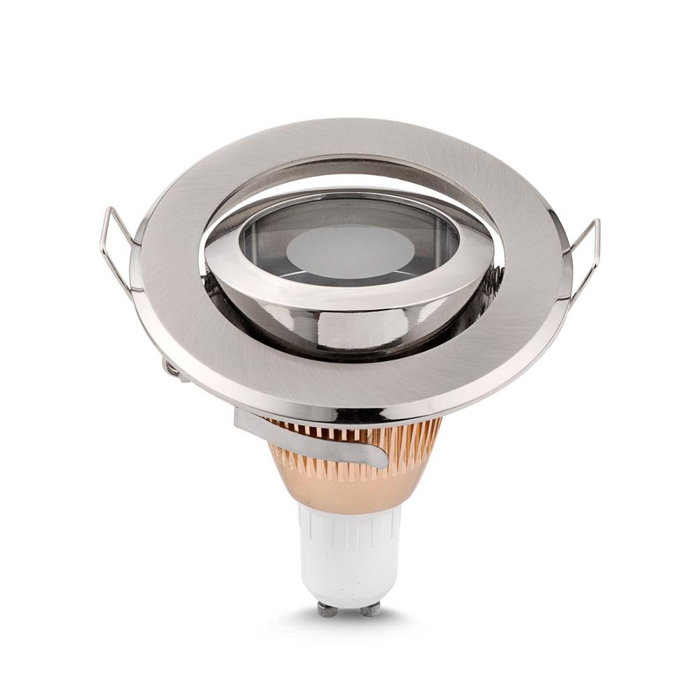 Free Shipping 8PCS IP44 recessed Ceiling light holder round MR16 spotlight halogen lamp fixtures