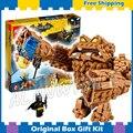 469 unids nuevo super heroes batman 07050 clayface splat attack diy modelo kit de construcción de bloques de regalos movie juguetes compatible con lego