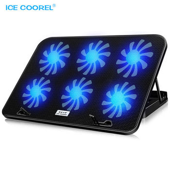 12-15.6 inch USB Radiator Cooler Fan with 6 Cooling Fans For Laptop Computer Mute Cooling Cracket Base Pad LED Backlight เมาส์