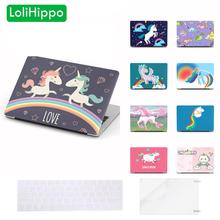 LoliHippo Unicorn Series Laptop Protective Hard Case for New Apple Macbook Air Pro 11 12 13 15 Notebook Cover for A1707 A1706