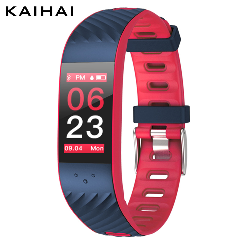 KAIHAI smartband blood pressure Heart rate Monitor sport smart bracelet Watch fitness tracker wrist band for android and ios
