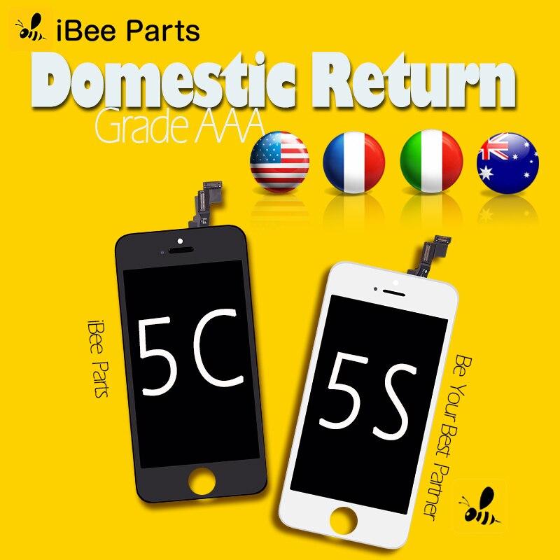 IBee Pièces 10 pcs Pour ShenChao Grade AAA pour Pour iPhone 5C 5S SE LCD Écran Tactile Avec Digitizer Verre assemblée Remplacement