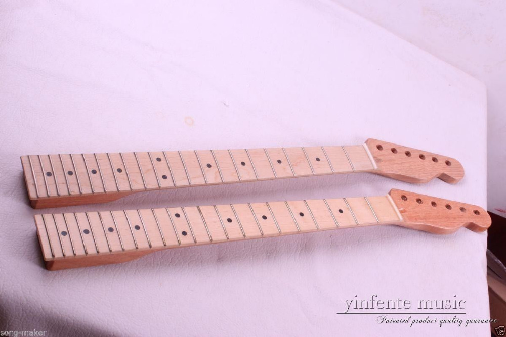 two Guitar neck electric guitar neck Solid wood 22 fret New 25.5 1pcs black guitar neck electric guitar neck solid wood 25 5 22 fret new 008