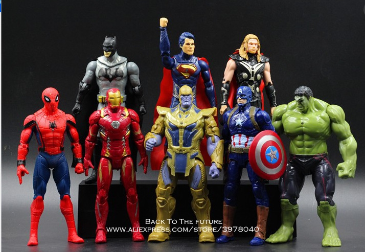 Disney Marvel Avengers 8 pcs/set Thor Hulk Iron Man Action Figure Anime Mini Decoration PVC Collection Figurine Toy model gift