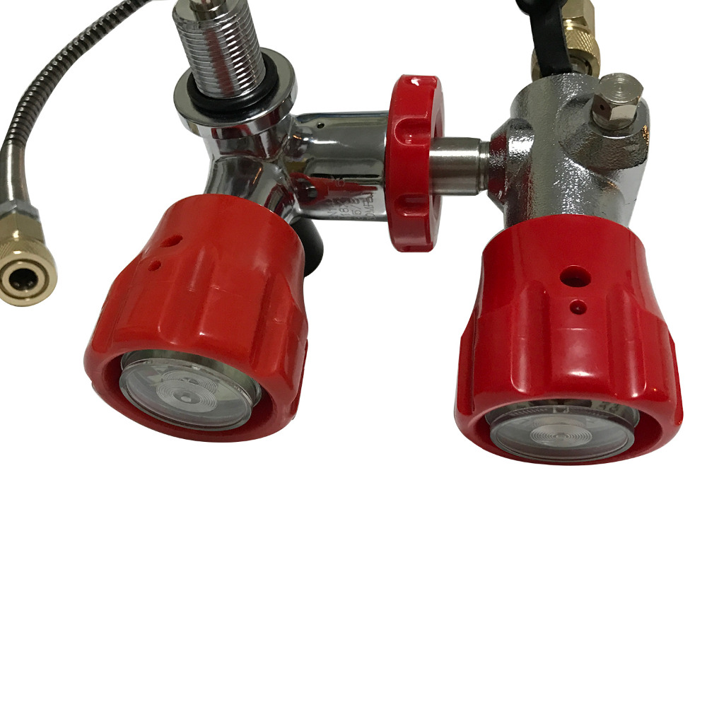 AC101 [Acecare]Red30Mpa VALVE With FILLING STATION  For Paintball Airsoft Gun And Paintball  Composite Compressed Air Cylinder