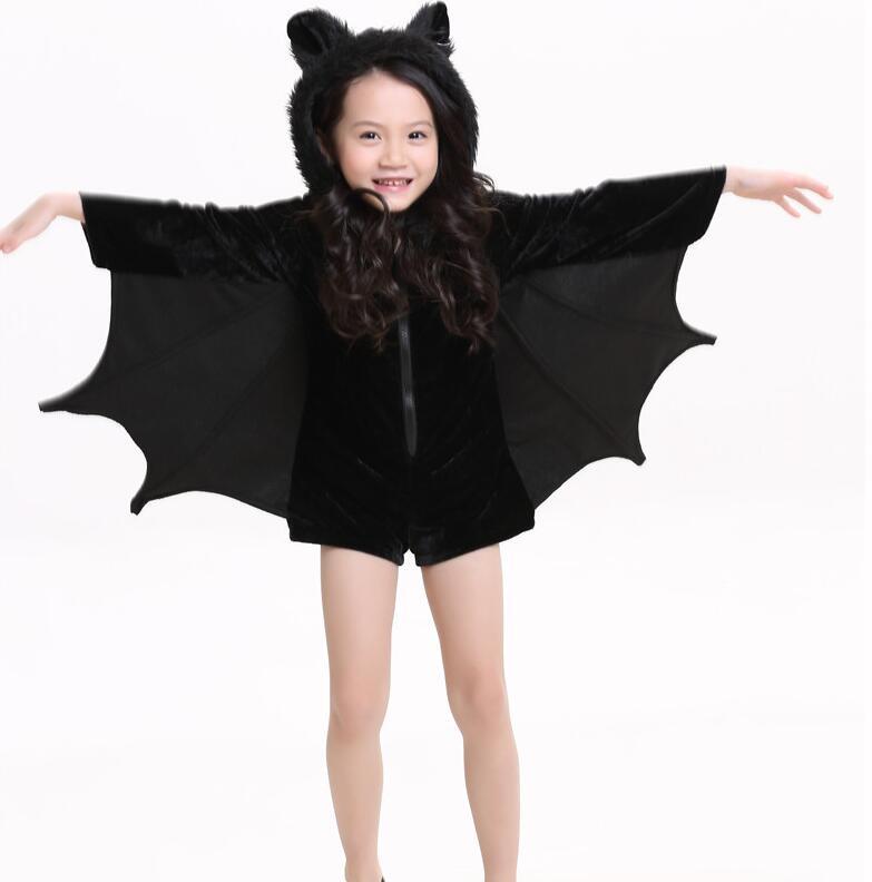 2017 Child Animal Cosplay Cute Bat Costume Kids Halloween ...
