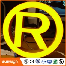 wholesale outdoor advertising brushed stainless steel LED epoxy resin channel letter