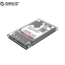 ORICO 2139U3 Жесткий Диск Корпус 2.5 дюймов Прозрачный USB3.0 Жесткий Диск Корпус UASP Поддержка протокола
