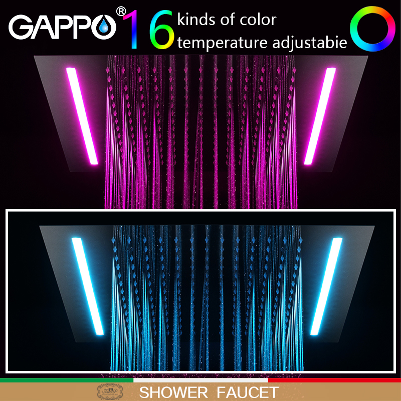 GAPPO shower faucet basin waterfall faucets shower mixer taps bath faucets mixer Rainfall taps bath LED Sensor Faucets