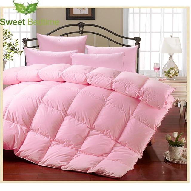 800 Fill Power Sateen White Goose Down Comforter Cores Queen King Size Quilts Inner Winter Duvet