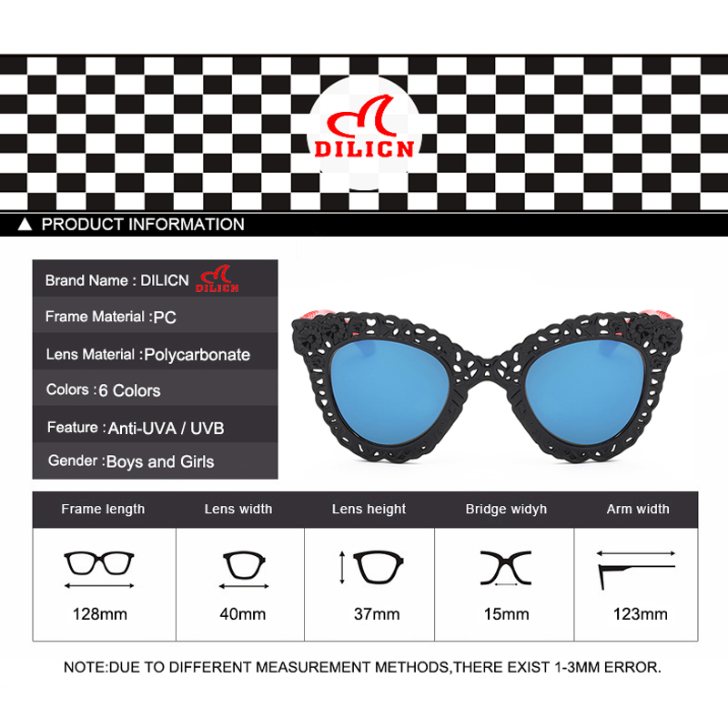 597f70339d DILICN Blue Lens Unbreakable Children Sunglasses Girls Hollow Flower Party  Favors Kids Sun Glasses Baby Boy Casual UV400 Eyewear-in Sunglasses from  Mother ...