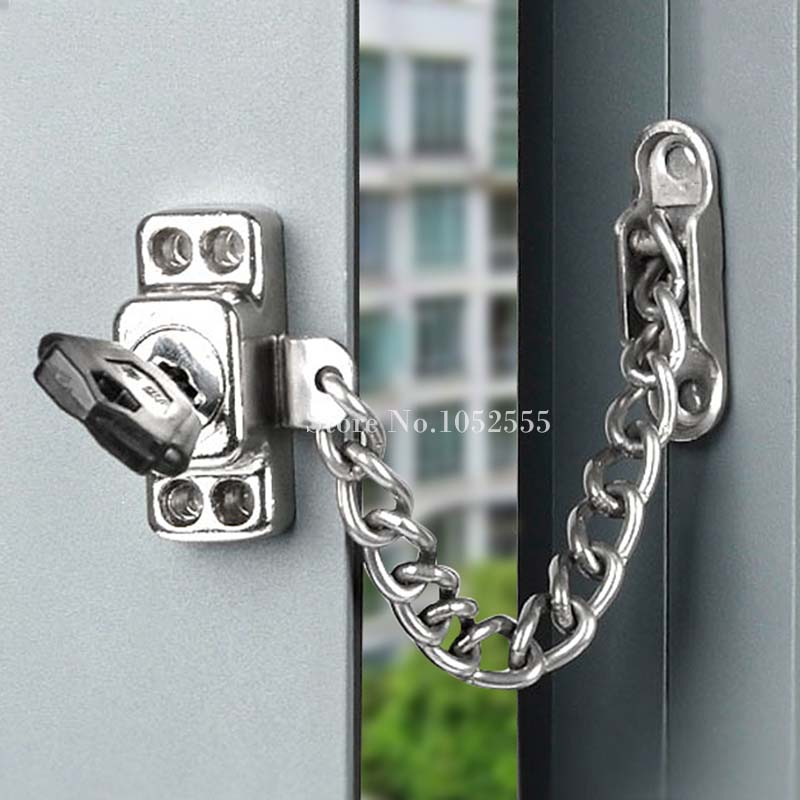 Hotsale Aluminum Alloy Doors \u0026 Windows Security Chain Lock Children Safety Protection Anti theft Lock Window Restrictor Lock-in Locks from Home Improvement ... & Hotsale Aluminum Alloy Doors \u0026 Windows Security Chain Lock ...