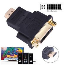 DVI 24+5 HDMI Convert Male to Female Adapter Converter Gold Plated Cable Cabo for HDTV LCD