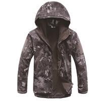Lurker Shark Skin Soft Shell V4 Military Tactical Jacket Men Waterproof Windproof Warm Coat Camouflage Hooded