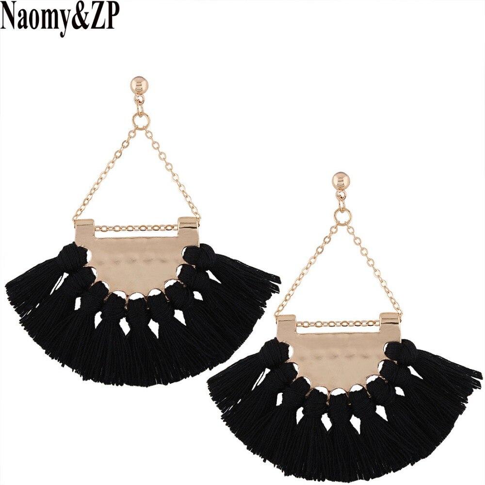 Купить серьги подвески naomy & zp с кисточками для женщин в богемном