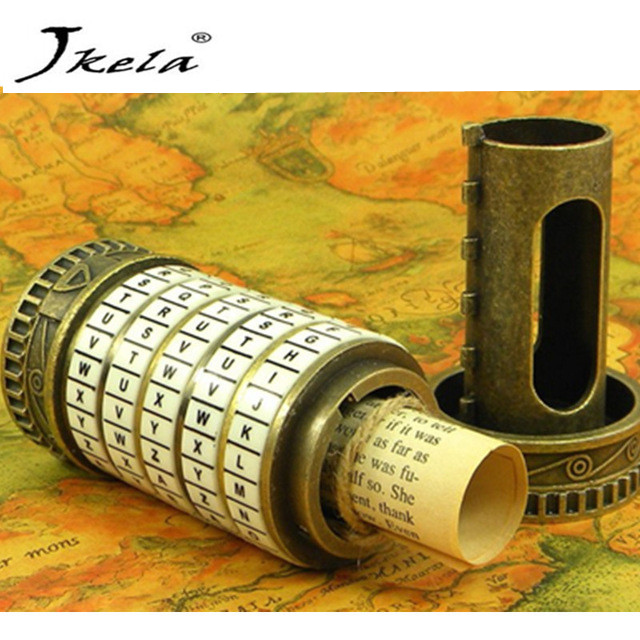 [Jkela] Leonardo da Vinci Educational toys Metal Cryptex locks gift ideas holiday Christmas gift to marry lover escape chamber leonardo da vinci мост подъемный модель d 012
