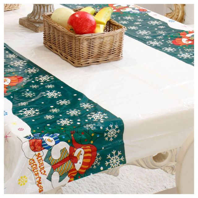 Christmas Disposable Tablecloth Festive Rectangle Oblong Table Cloth Xmas Tableware Dining Kitchen Table Cover 110*  sc 1 st  AliExpress.com & Christmas Disposable Tablecloth Festive Rectangle Oblong Table Cloth ...