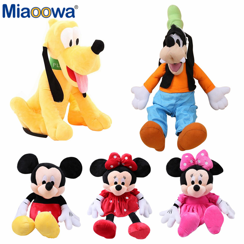 5 Styles Stuffed Plush toys Mickey Mouse Minnie Plush Toys Cute Goofy Dog Pluto Dog Kawaii Stuffed Toys Cartoon Children Gift 1pc 30cm selling plush toy brinquedos stuffed animal goofy dog goofy toy lovey kawaii doll gift for children