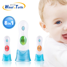 Mother Kids Baby Care Baby Digital Thermometer Body Ear 8 in1 Multifunctional Infrared Electronic Body Fever Monitor Thermometer tecman tm 910 tm910 50 1100c multifunctional infrared thermometer