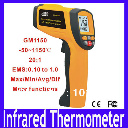 High Temperature Infrared Thermometer GM1150 Hand-held Infrared Thermometer -50 to 1150 Degrees  MOQ=1