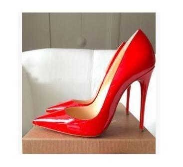2019 marque de luxe chaussures femmes fond rouge talons hauts classique femme pompes - 2