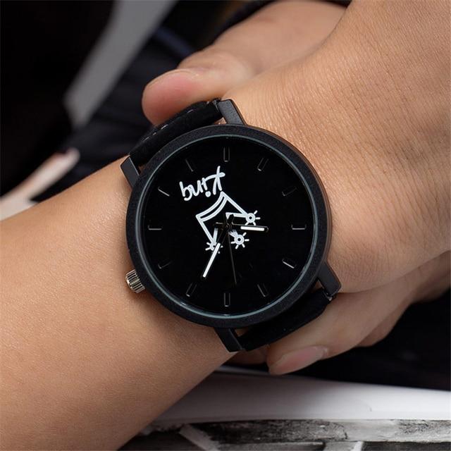 748f8f19f86 Rei e rainha Xadrez Casal relógio relogio feminino mulheres Delicada  pulseira de couro relógio de pulso