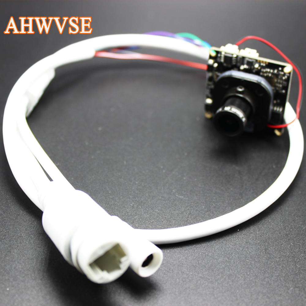 AHWVSE H.264 2.8mm 16mm lens 1080P 720P 960P CCTV IP camera module board with LAN cable
