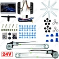 5Set New DC24V Car/Truck Front 2-Doors Electric Power Window Kits with Switches and Harness #FD-3844