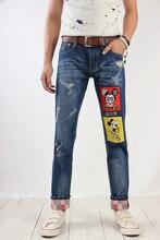 Бесплатная доставка 2016 Весна осень New England взрыв модели горячей продажи моды для Мужчин Вскользь Тонкой прохладный джинсы Дешевые оптовые
