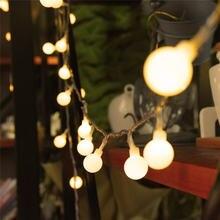 Рождественская гирлянда 5 м 28 светодиодов с подвесными шариками