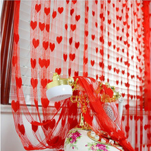 Peach Heart-shaped Wedding Curtain Room Decoration for Supplies Favors and Gifts