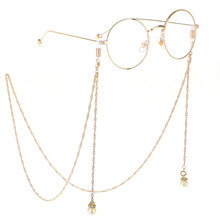 Fashion Imitation Pearl Crystal Sunglasses Rope Neck Strap Eyeglasses Reading Glasses Chain Lanyard Cord Holder(China)