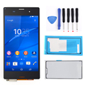 "5.0"" For Sony Xperia Z3 L55t D6603 D6643 D6653 Black LCD Display Touch Screen Digitizer Assembly+Pair Adhesives+Tools Free Ship"