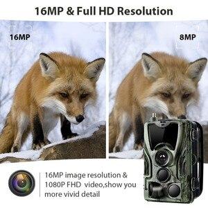 Image 3 - Suntekcam HC 801LTE 4G kamera myśliwska 16MP 64GB kamera obserwacyjna IP65 pułapki fotograficzne 0.3s dziki aparat z baterią litową 5000Mah