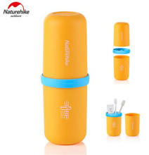 Naturehike Outdoor 3 in 1 Multifunctional Capsule Wash Cup Portable Mouthwash Bottle Travel Toothbrush Storage Box