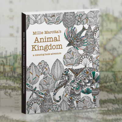 30 Sheets English Edition Animal Kingdom /Secret Garden Style Coloring Card Tintage Postcards DIY Painting Colouring Books