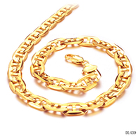 2015 New Fashion Style 51cm 18K Gold Man Chain Necklace 316L Stainless Steel Pure Titanium Fine