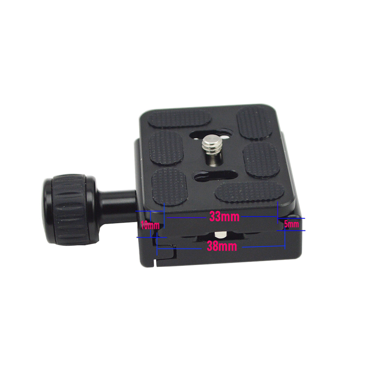 QR-50 quick release Clamp Adapter Plate with Gradienter for Quick Release Plate for tripod Ball Head Arca Swiss RRS Wimberley