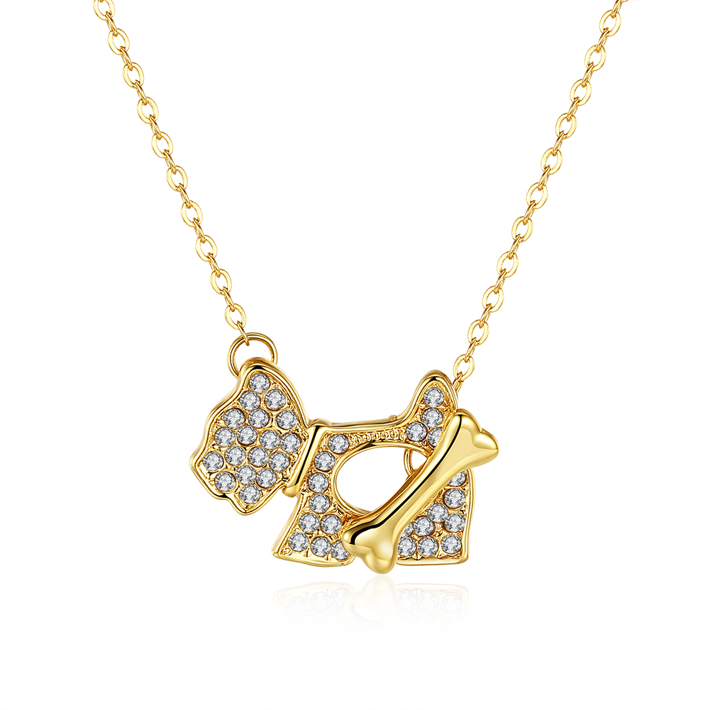 N772 Wholesale Nickle Free Antiallergic 18K Real Gold Plated Necklace pendants New Fashion