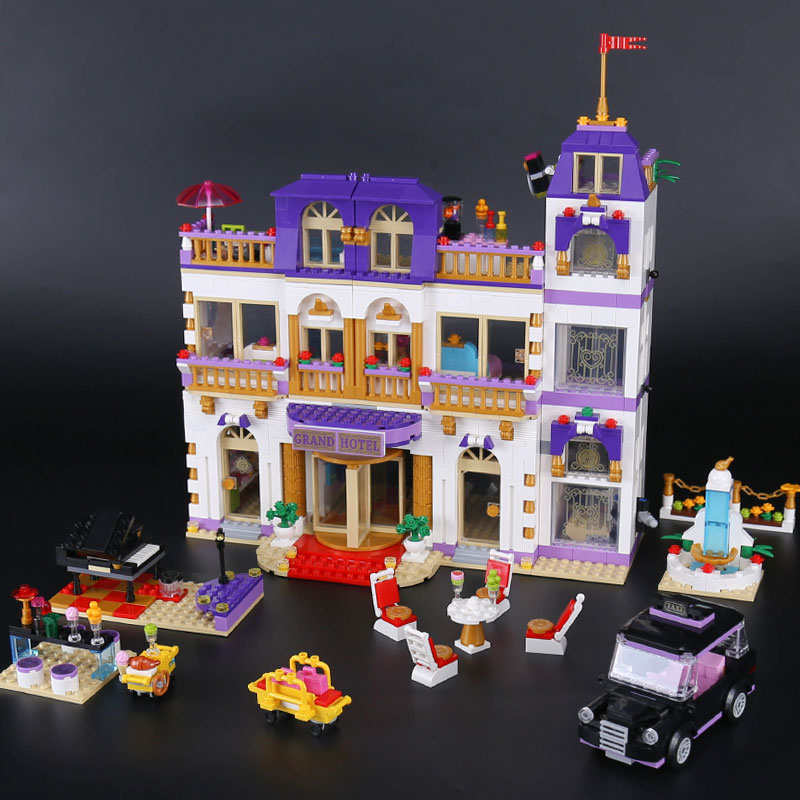 10547 1676Pcs Girls Series The Heartlake Grand Hotel Model Building Blocks Bricks lepin 01045 toys for girls Gift birthday 41101 1585pcs friends series heartlake grand hotel 10547 model building bricks blocks emma stephanie toys girls compatible with lego