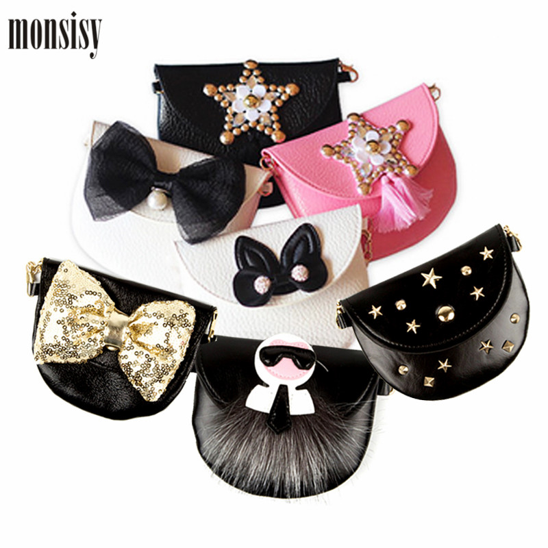 Monsisy Girl Coin Purse Children's Wallet Small Change Purse Kid Bag Coin Pouch Money Holder Fashion Star Rivet Baby Handbag fashion women coin purse lady vintage flower small wallet girl ladies handbag mini clutch women s purse female pouch money bag