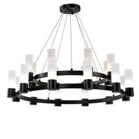 Kung 8/12/20 head LED Pendant Light aircraft cable circle structure G9 Lamp holder Fixture Creative Energy Saving Drop Lighting