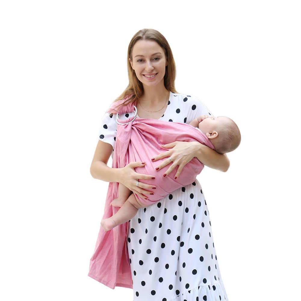 Nuevo 80% línea de tela transpirable anillo de bebé portador suave envoltura de bebé para recién nacidos mejor regalo de ducha para niñas y niños eslingas de bebé
