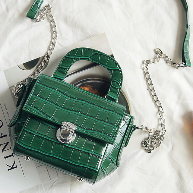 silver chain bag mini shoulder messenger bags designer sling phone bag  women crocodile brand crossbody bags candy color handbags d3bdf00dbafec